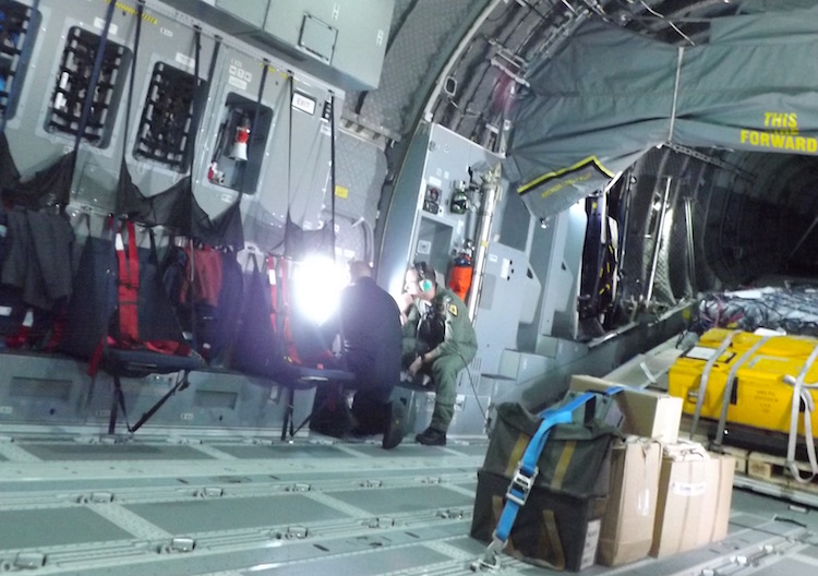 Inside the A400M.