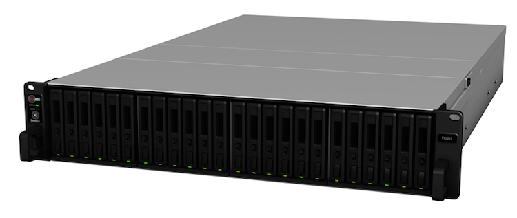 FlashStation FS3017 is Synology's new all-flash-array series providing unparalleled data transfer speed.
