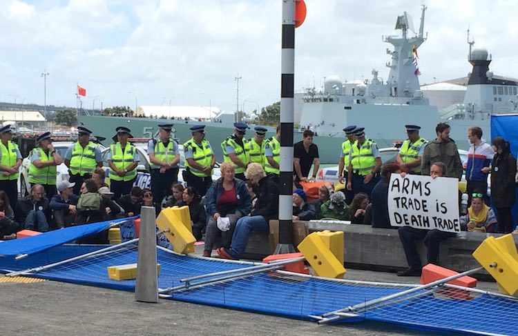 Protest action at the 2016 NZDIA annual forum in Auckland