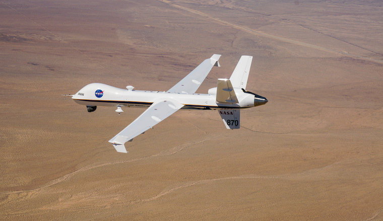 "The DAA system installed on Ikhana, a NASA-owned Predator® B/MQ-9 Unmanned Aircraft System (UAS), enabled the UAS to meet the FAA's 14 CFR 91.113(b) requirement to ""see and avoid"" other aircraft during today's flight. Photo: Business Wire."