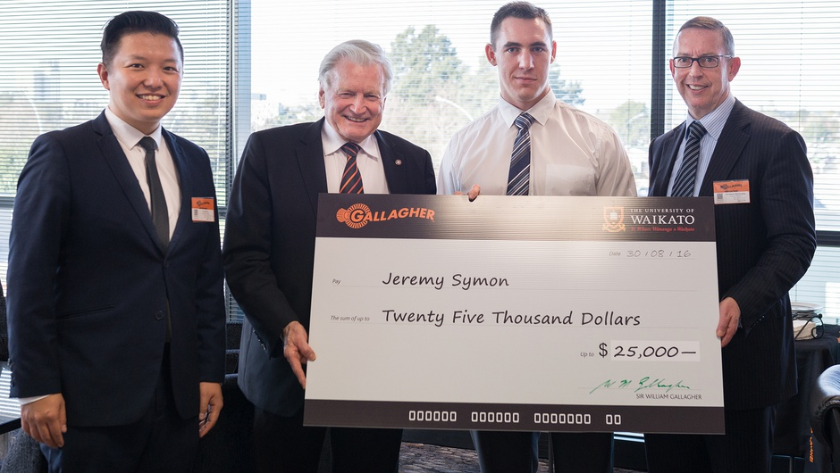 Waikato software engineering student Jeremy Symon wins Sir William Gallagher Cyber Security Scholarship