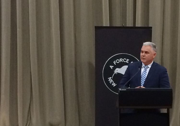 Defence Minister Mark Mitchell addresses New Zealand defence industry reps at the Beehive