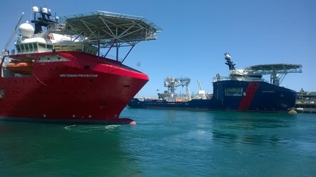Sister ships: Ocean Protector and Ocean Shield. Image courtesy Australian Government.