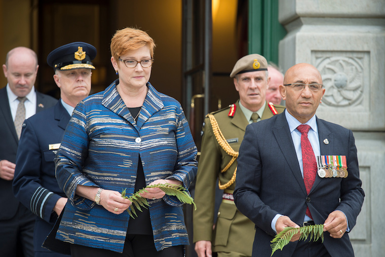 Hon Ron Mark with Australian Minister for Defence Hon Marise Payne